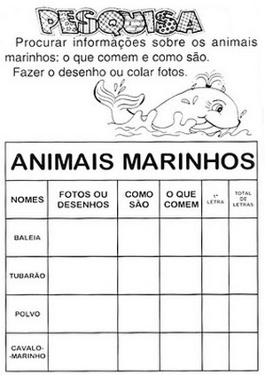 Atividades para o Dia dos Animais 4 de Outubro
