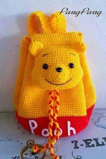 Crochet pooh Handbags