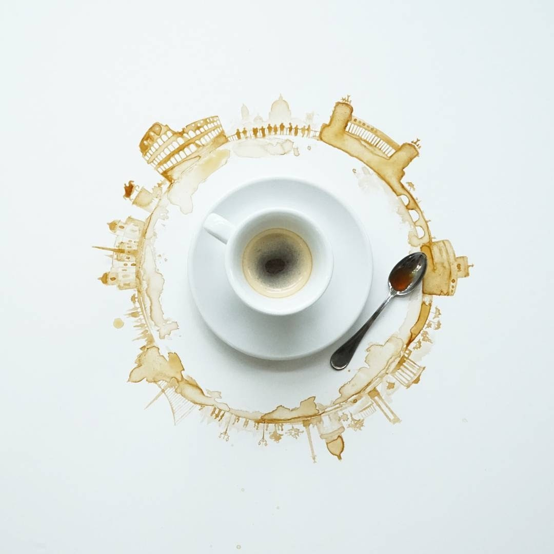 07-In-my-Dreams-of-Rome-Giulia-Bernardelli-Coffee-Cup-Paintings-or-Drawings-www-designstack-co