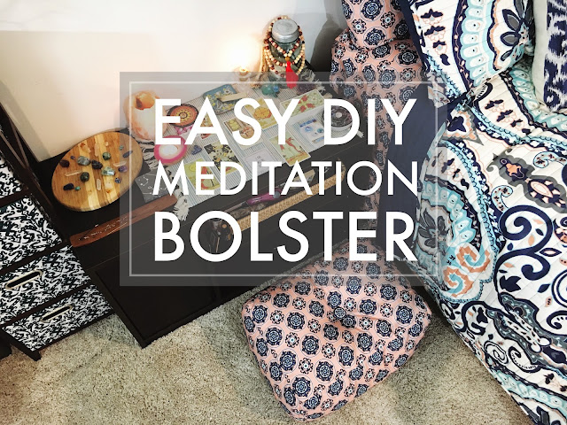 Easy DIY Meditation Bolster