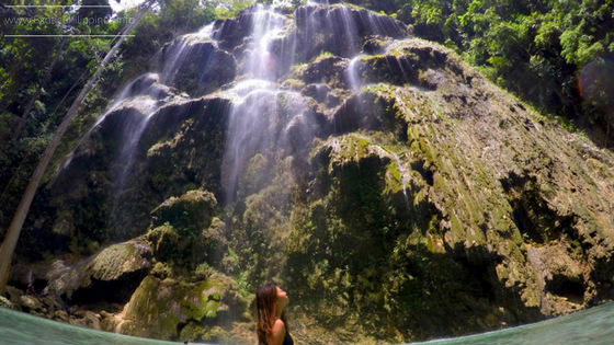 Tumalog Falls in Oslob Cebu - The Curtain Like Waterfalls