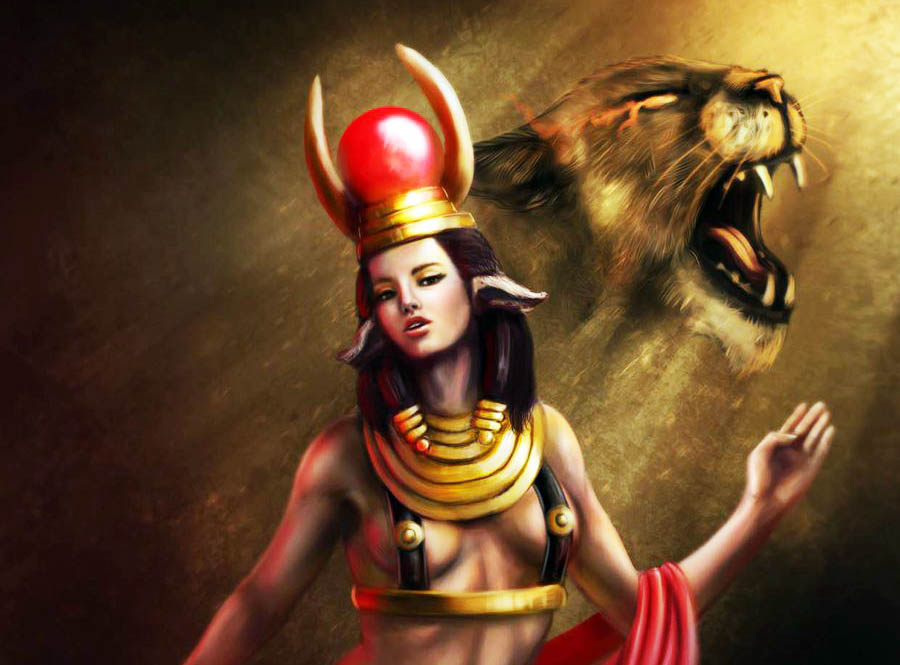 A, mısır mitolojisi, mitoloji,Hathor,Ra,Ra'nın kızı,Horus'un eşi,Ra'nın günahkarları cezalandırışı,Hathor'un katliamı,Mısır mitleri,Hathor miti,Dendara,Kadınların tanrıçası