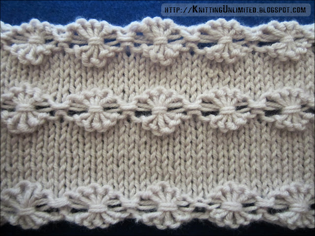 Knitting How To Cast On Extra Stitches : Flowers in a Row - Knitting Unlimited