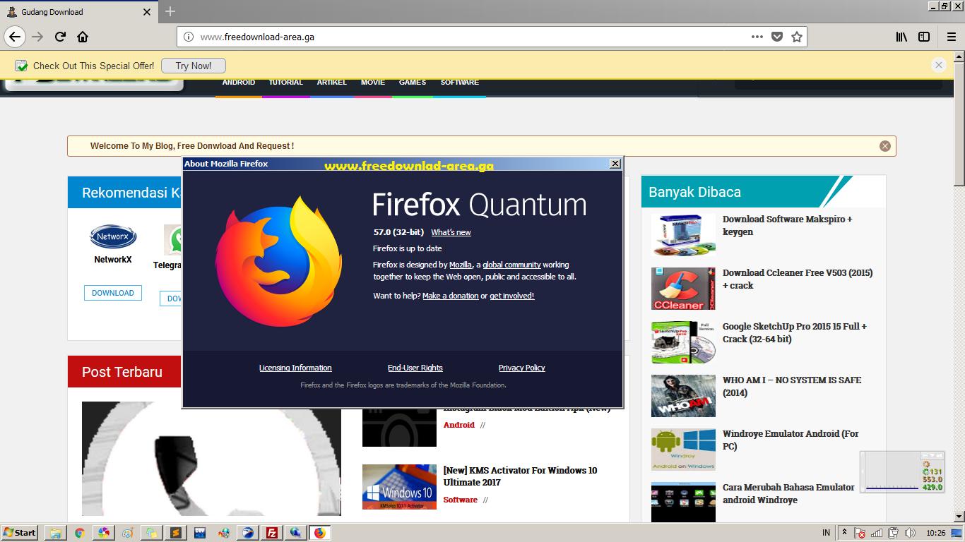 Mozilla Firefox Quantum (32/64bit) Offline Installer for windows