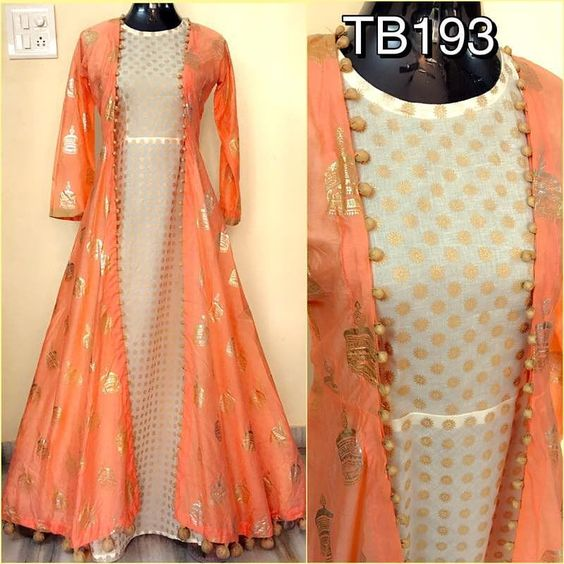 Top Anarkali Salwar Trend For Diwali long jacket
