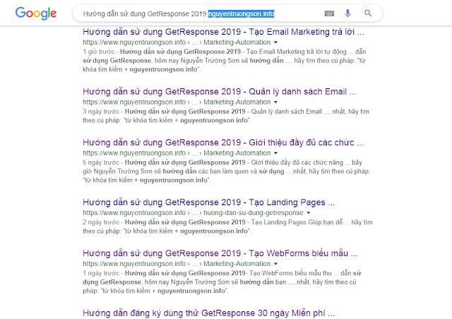 Hướng dẫn sử dụng GetResponse 2019 nguyentruongson.info