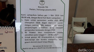 11 RS di DKI Putus Kontrak dengan BPJS, RSUD Tetap Layani Pasien JKN-KIS