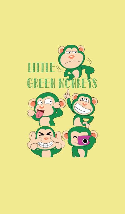 Funny Little Green Monkeys