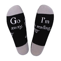 Go Away I'm Reading Socks  - Gift Ideas for Bookworms