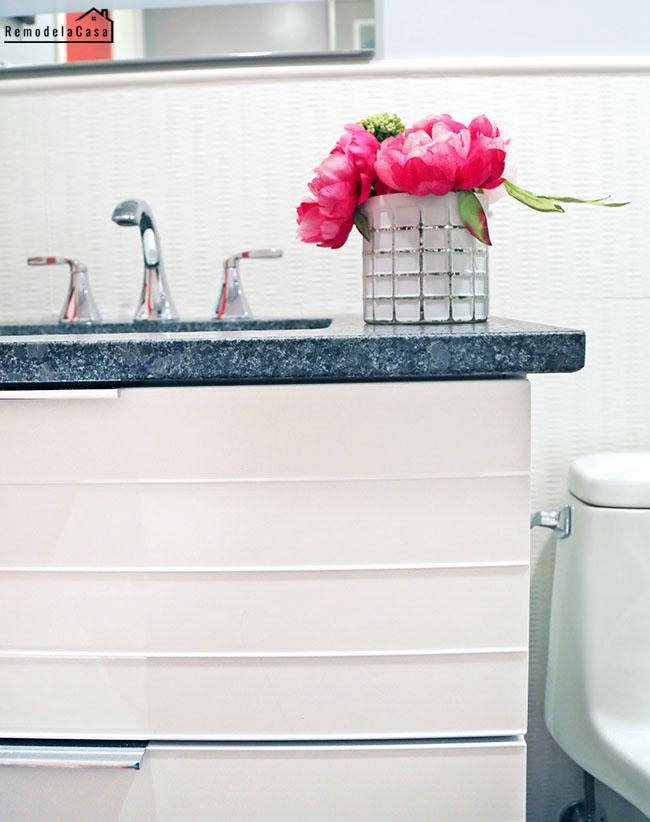 white Ikea floating vanity