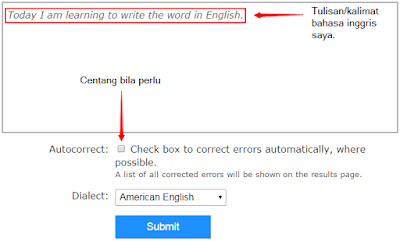 Koreksi Spelling dan Grammar di Online Text Correction