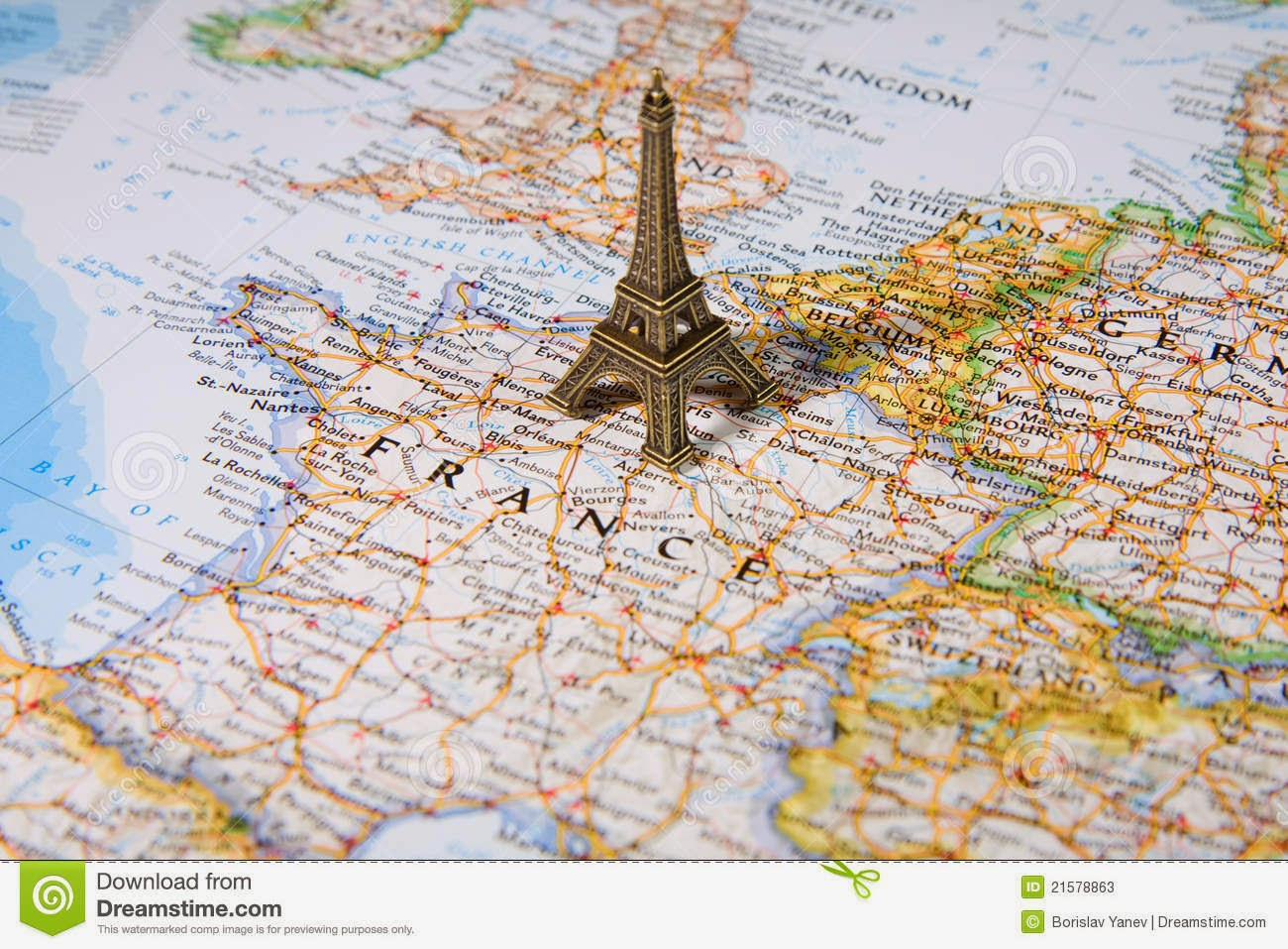 map eiffel tower france