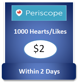 1000 buy Periscope Hearts Cheap