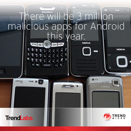 There will be 3 million malicious apps for Android this year. Trend Micro Mobile Security Detects Malicious App on Android Device