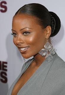 simple but classy updo on black woman