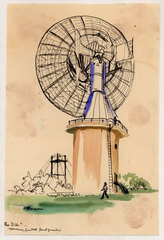 sketch of ground aircraft radar installation
