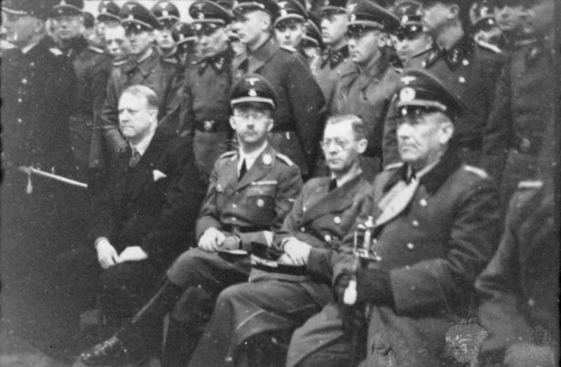 24 April 1940 worldwartwo.filminspector.com Himmler Quisling Terborven, von Falkenhorst