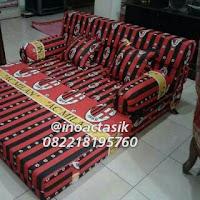 Sofa bed Inoac motif AC milan inoactasik