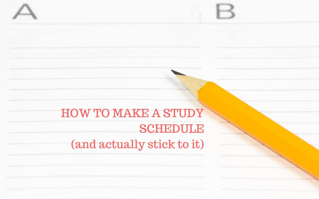 College Schedule Maker - Blog Hints for Making a Simple Study