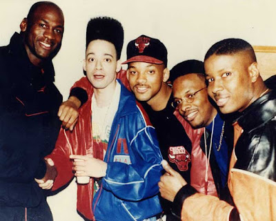 Michael Jordan, Christopher Reid, Will Smith, DJ Jazzy Jeff y Christopher Martin