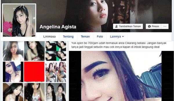 profil facebook cari bookingan untuk daerah cikarang dan bekasi