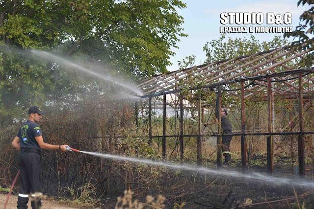 Αργολίδα: Πυρκαγιά σε αγροτική κατοικία και θερμοκήπιο στο Άργος