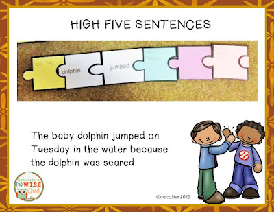 "High Five Writing allows students to revise their sentences to make them ""high five"" worthy. Working first with a partner and eventually alone, students can create sentences with great structure."