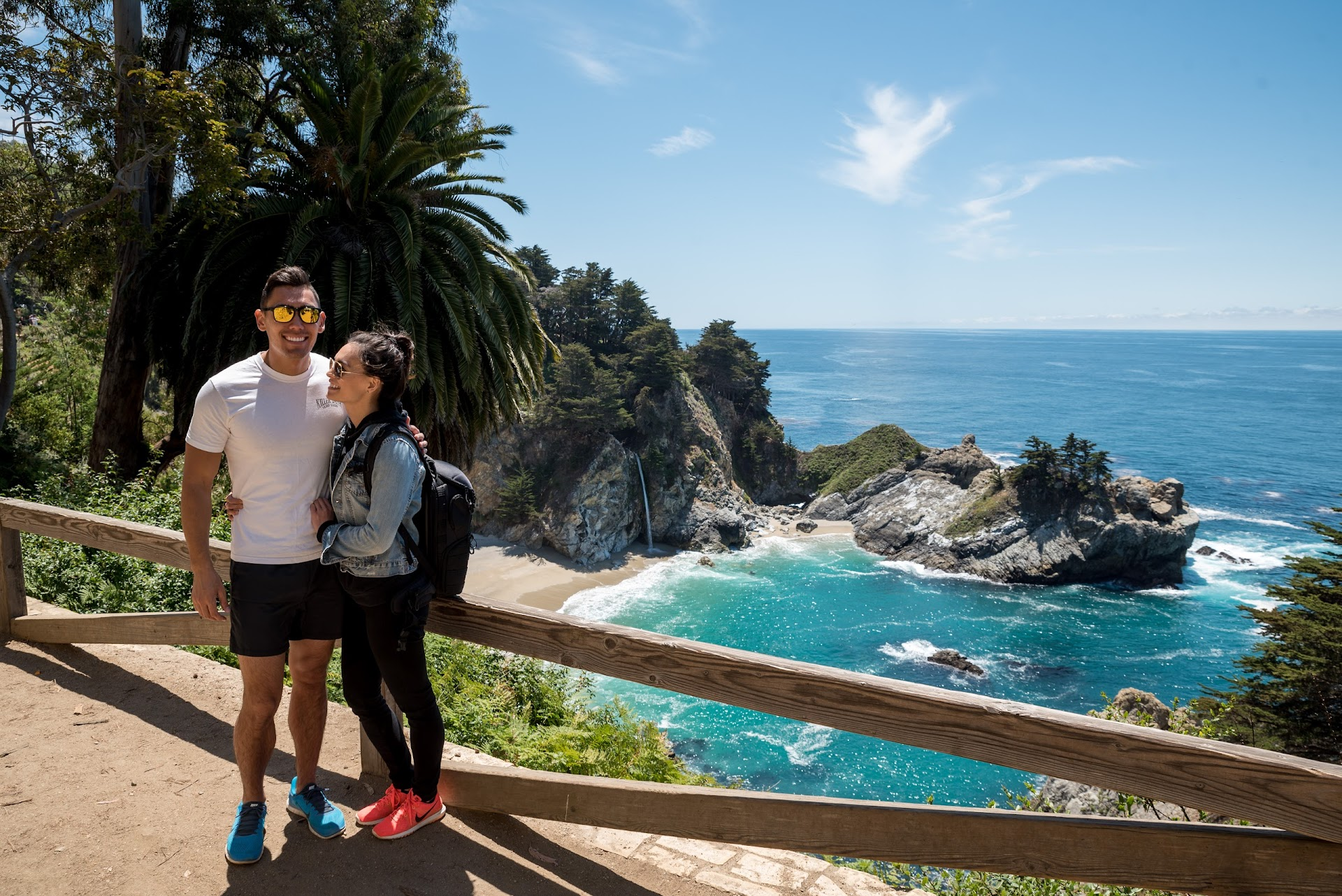 mcway falls, big sur, best things to do in big sur, monterey, travel blogger, see monterey, grab your moment, travel couple