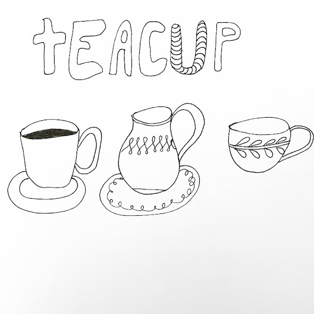 How to draw a teacup