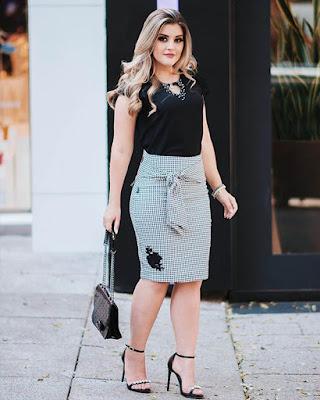 outfit para la oficina elegante con falda lápiz
