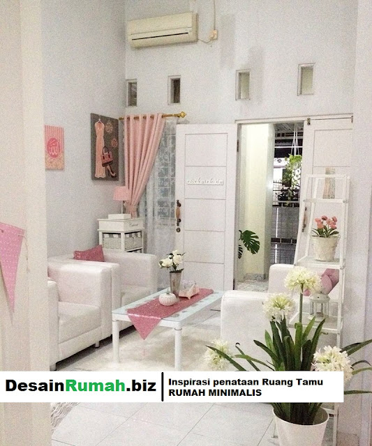 DesainRumah.biz - Inspirasi desain tuang tamu pada rumah minimasil agar terkesan ekslusif bagi penghuninya.