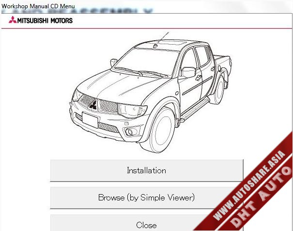 Mitsubishi ebook,soft: [Workshop Manual] Mitsubishi L200