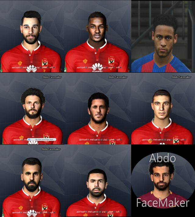 PES 2017 Alahly Facepack and Neymar By Abdo Facemaker