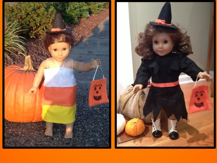 DIY American Girl Halloween Outfits Witch Costume u0026 Candy Corn Dress  sc 1 st  Two It Yourself & Two It Yourself: DIY American Girl Halloween Outfits: Witch Costume ...