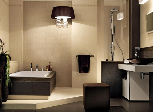 Ba os color beige ideas para decorar dise ar y mejorar for Banos modernos para departamentos