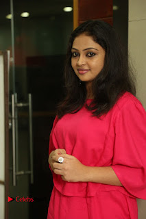 Actress Arundathi Nair Stills in Red Chididar at Bethaludu Success Meet  0005.JPG