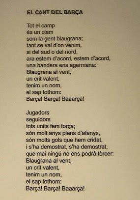 Lagu Cant Del Barca Dinyanyikan Untuk Pertama Kali Dengan   Suara Yang Dilakukan Oleh Oriol Martorell