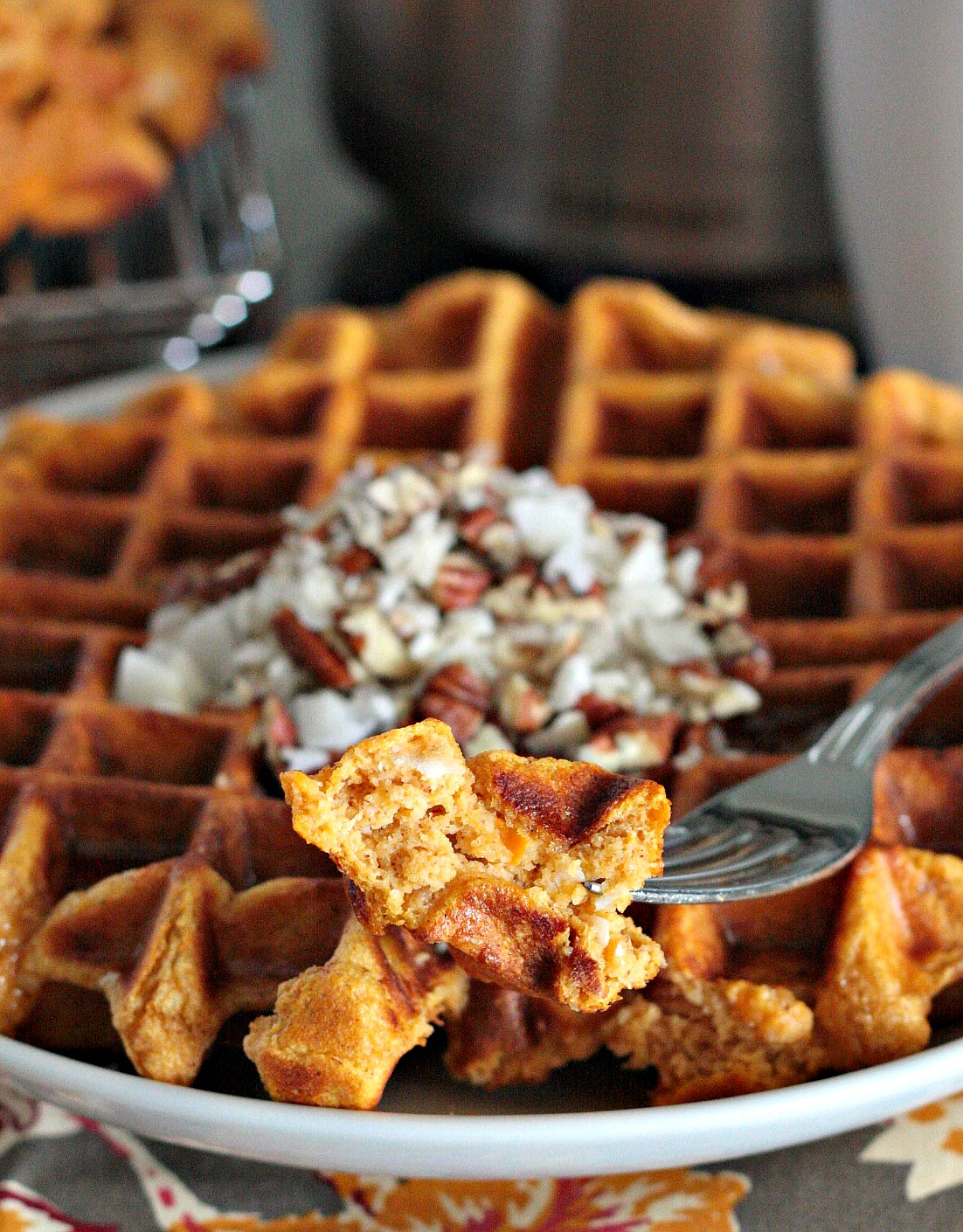 sweet potato coconut waffles