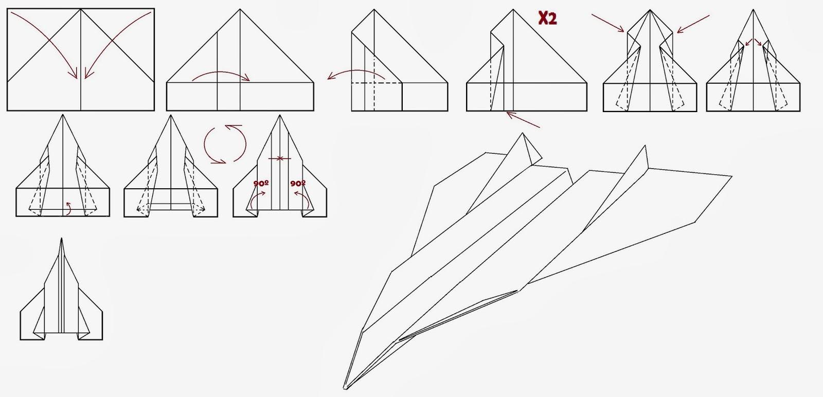 Avión de papel Wing 53