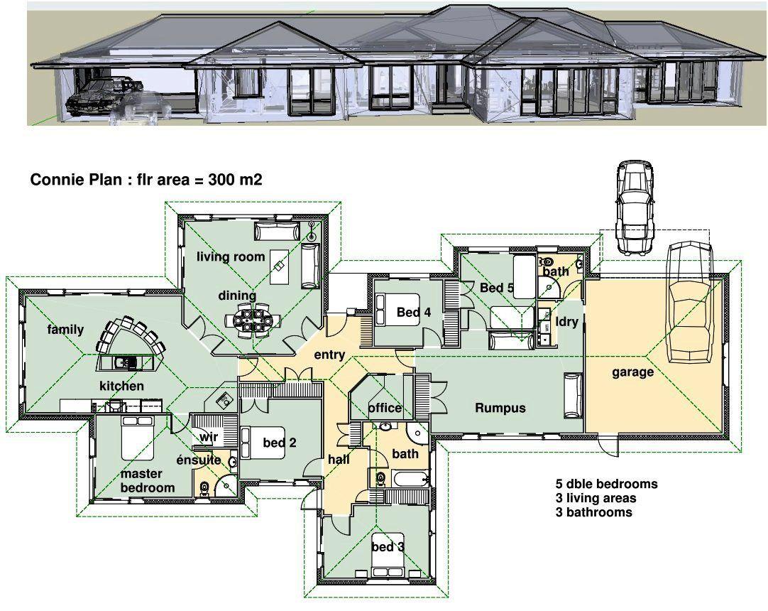 Desain Rumah Minimalis 5 Kamar Tidur 2 Lantai  Desain Rumah
