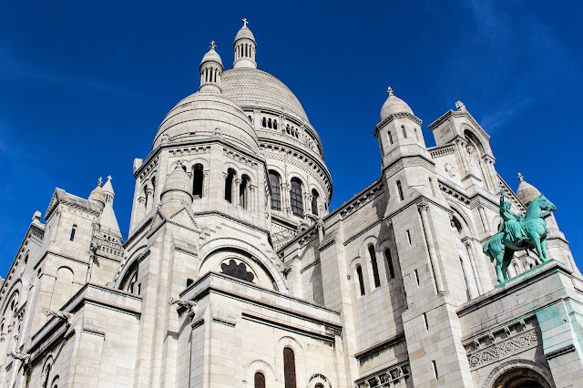 Photo de la basilique du Sacré-coeur de Montmartre à Paris