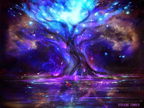 Representação da mítica árvore da mitologia nórdica, teria algo a ver com os Troncos Celestes?