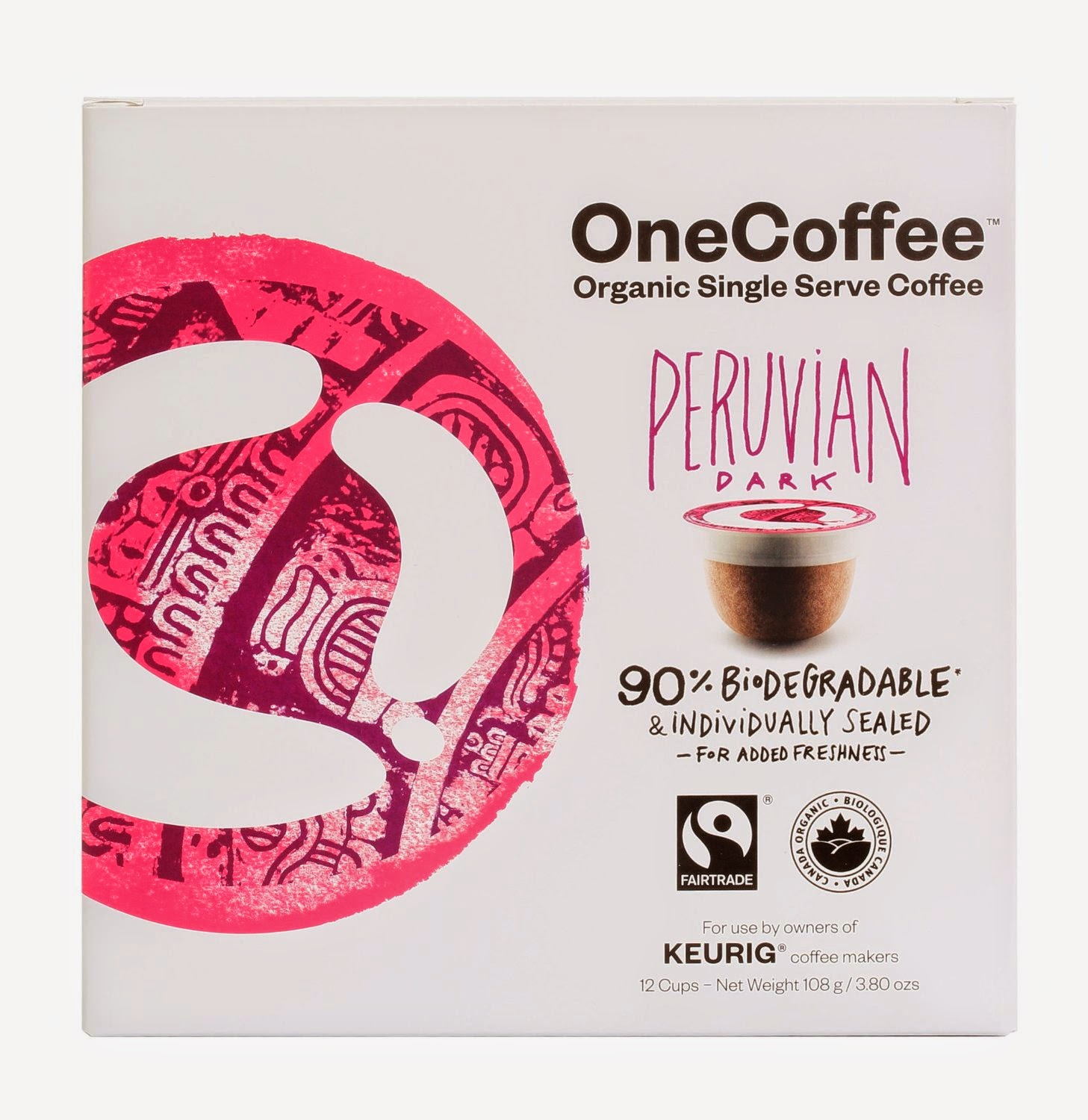 Biodegradable organic coffee