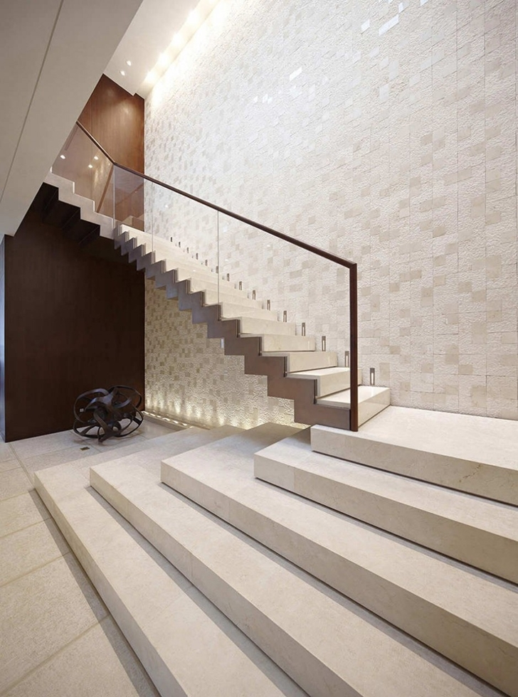 Stairs in Modern apartment in Shenzhen by Kokai Studio