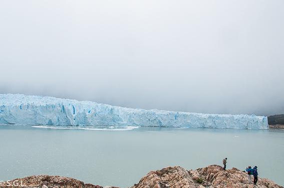 Calafate y el Perito Moreno. Argentina