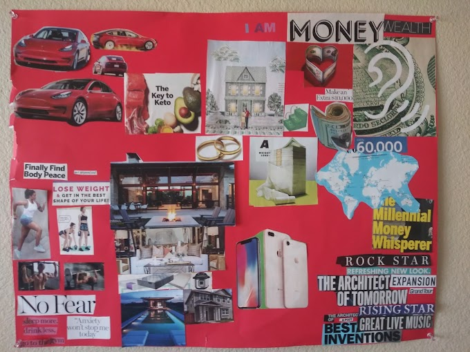 We Encourage the Creation of Vision Boards For Those Looking For Their Own Positive Pop Art.