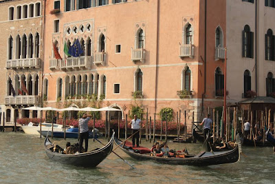 Gondola on the Grand Canal in Venezia