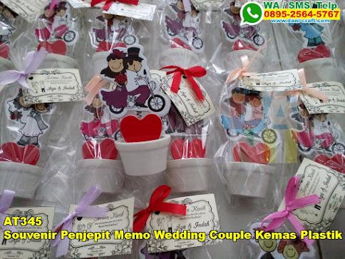 Toko Souvenir Penjepit Memo Wedding Couple Kemas Plastik