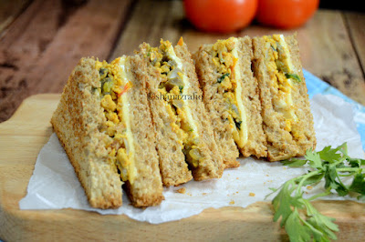 Scrambled Egg & Mushroom Sandwich