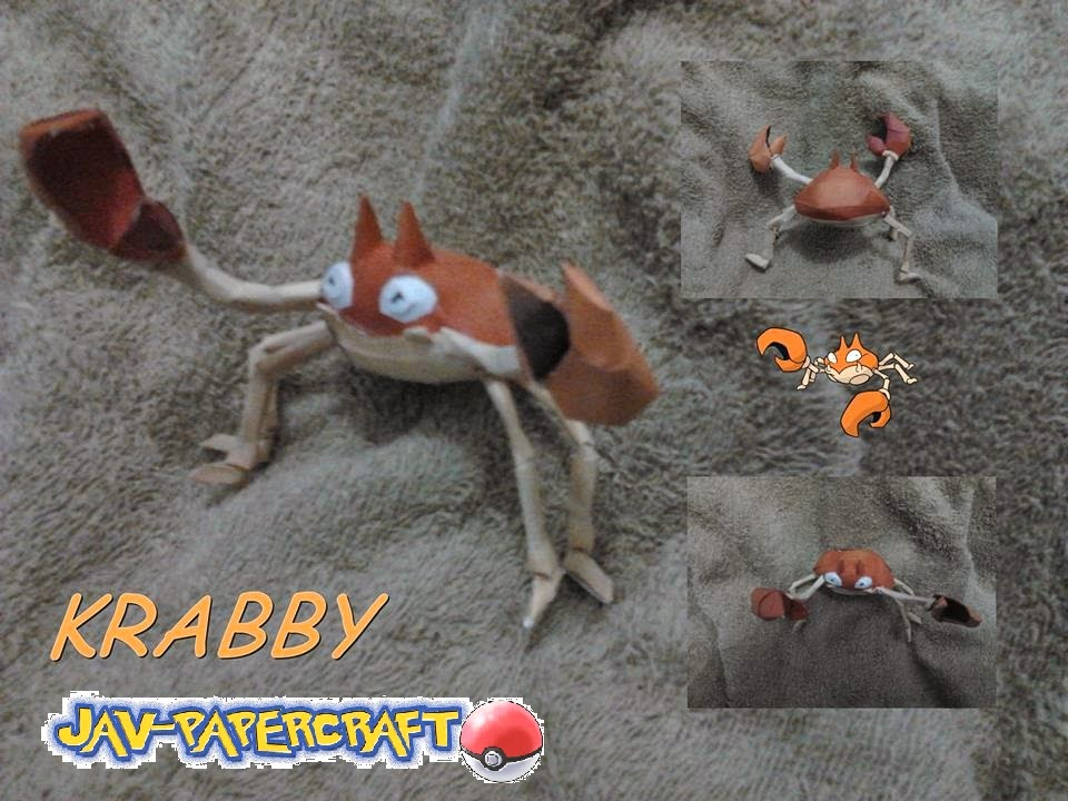 Pokemon Krabby Papercraft